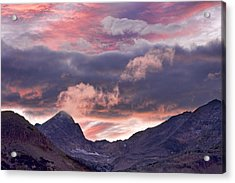 Boulder County Colorado Indian Peaks At Sunset Acrylic Print by James BO  Insogna