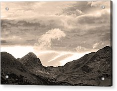 Boulder County Indian Peaks Sepia Image Acrylic Print