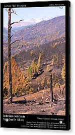 Boulder County Wildfire 5 Miles West Of Downtown Boulder Acrylic Print by James BO  Insogna