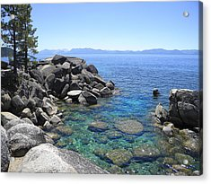 Boulder Cove On Lake Tahoe Acrylic Print