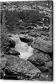 Boulder Creek Acrylic Print by DigiArt Diaries by Vicky B Fuller