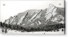 Boulder Flatirons Colorado 1 Acrylic Print by Marilyn Hunt