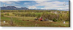 Acrylic Print featuring the photograph Boulder Louisville Lafayette Colorado Front Range Panorama by James BO Insogna