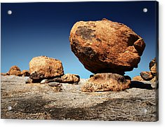 Boulder On Solid Rock Acrylic Print