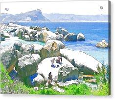Boulders 3 Acrylic Print by Jan Hattingh