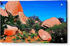 Boulders 7 In Abstract Acrylic Print