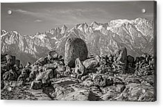 Boulders And Mountains - Sierra Nevada Acrylic Print by Joseph Smith