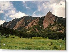 Boulder's Flatirons Acrylic Print