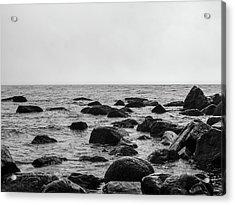 Boulders In The Ocean Acrylic Print
