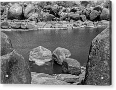 Acrylic Print featuring the photograph Boulders Of Tungabhadra, Hampi, 2017 by Hitendra SINKAR