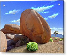 Boulders Acrylic Print by Snake Jagger