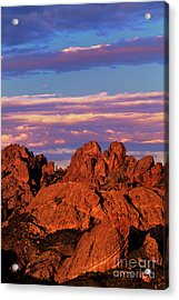 Boulders Sunset Light Pinnacles National Park Californ Acrylic Print
