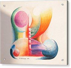 Boulets Acrylic Print by Muriel Dolemieux