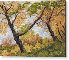 Boulevard Park Acrylic Print by Susan Ernst Corser