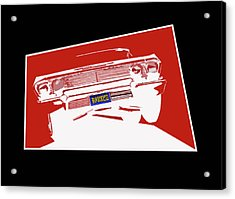Bounce. '63 Impala Lowrider. Acrylic Print by MOTORVATE STUDIO Colin Tresadern