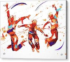 Bounce Acrylic Print by Penny Warden
