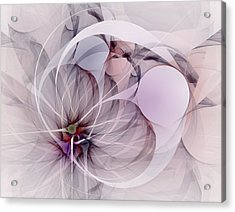 Acrylic Print featuring the digital art Bound Away - Fractal Art by NirvanaBlues