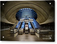 Bound For The Underground Acrylic Print by Evelina Kremsdorf