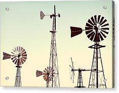 Bountiful Windmills Acrylic Print by Todd Klassy