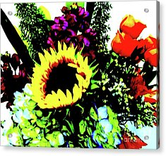 Bouquet Abstract Acrylic Print by Marsha Heiken