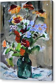 Bouquet Acrylic Print by Andrey Semionov