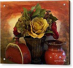 Bouquet Decor Ll Acrylic Print by Marsha Heiken