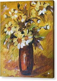 Bouquet Flowers Of Gold Acrylic Print
