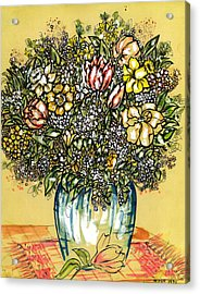 Bouquet For You Acrylic Print by Judith Herbert