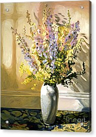 Bouquet Impressions Acrylic Print by David Lloyd Glover