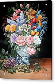 Bouquet In A Crystal Vase Acrylic Print