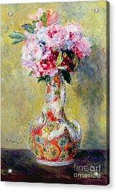 Bouquet In A Vase Acrylic Print by Pierre Auguste Renoir