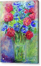 Acrylic Print featuring the painting Bouquet by Jasna Dragun