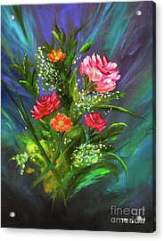 Acrylic Print featuring the painting Bouquet by Mary Scott