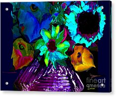 Bouquet In Fauve Acrylic Print