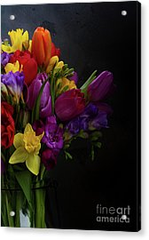 Flowers Dutch Style Acrylic Print