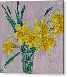 Bouquet Of Yellow Daffodils Acrylic Print by Vitali Komarov