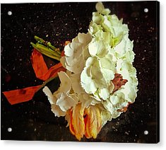 Bouquet Acrylic Print by Olivier Calas