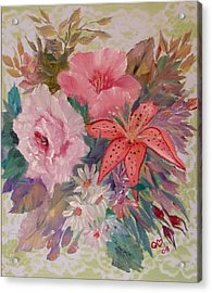 Acrylic Print featuring the painting Bouquet by Quwatha Valentine