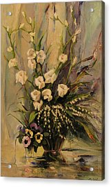 Acrylic Print featuring the painting Bouquet by Tigran Ghulyan
