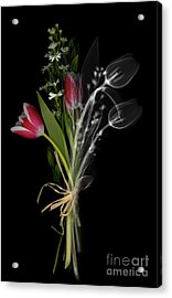 Bouquet X-ray Acrylic Print by Ted Kinsman