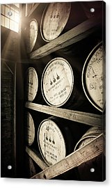Bourbon Barrels By Window Light Acrylic Print