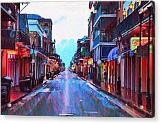 Bourbon Street At Dawn Acrylic Print