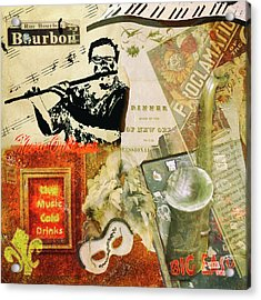Bourbon Street Collage Acrylic Print
