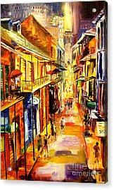 Bourbon Street Glitter Acrylic Print by Diane Millsap