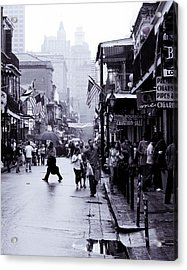 Bourbon Street In The Rain Acrylic Print
