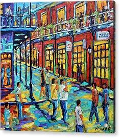 Bourbon Street New Orleans By Prankearts Acrylic Print by Richard T Pranke