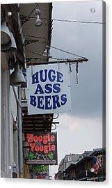 Bourbon Street Signs Acrylic Print by Lauri Novak