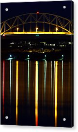 Bourne Bridge At Night Cape Cod Acrylic Print by Matt Suess