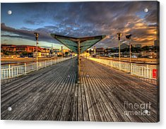 Acrylic Print featuring the photograph Bournemouth Pier Sunrise 2.0 by Yhun Suarez