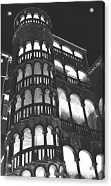 Bovolo Staircase In Venice In Negative Acrylic Print by Michael Henderson